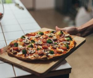pizza de massa integral